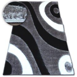 Carpet Shaggy SPACE 3D B314 grey