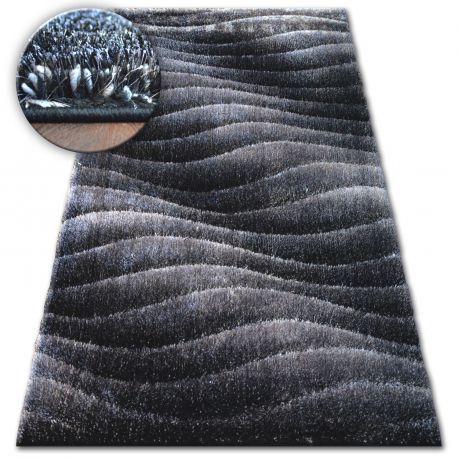 Carpet Shaggy Space 3d B222 Dark Grey